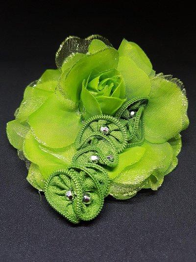 Spilla GREEN FLOWER zip
