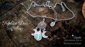 Collana opale acciaio inossidabile fluorescente regolabile bijoux bigiotteria gioielli