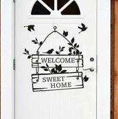 Decorazione per porta o parete home Sweet home adesivo welcome