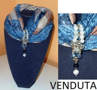 vendita calda genuina presentando stile unico Sciarpa gioiello (4)