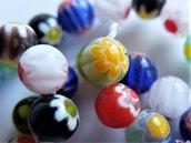 Perline di vetro millefiori fatto a mano  PRL33AN