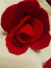 Rose in feltro sintetico