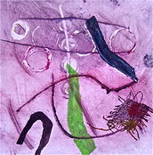 SOVRAPPOSTI, 2009, olio su carta, cm 14x14