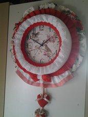 Tic Tac, orologio da parete in tessuto fatto a mano