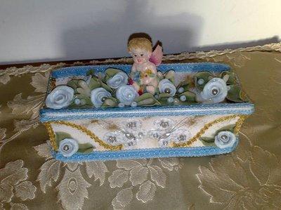 bomboniere battesimo su marmo