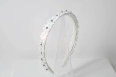 cerchietto capelli elegante da cerimonia comunione cresima damigella sposa accessori