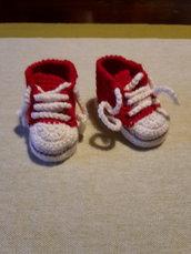 Scarpine rosse neonato Converse