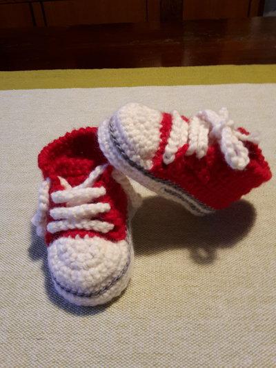 converse neonato rosse