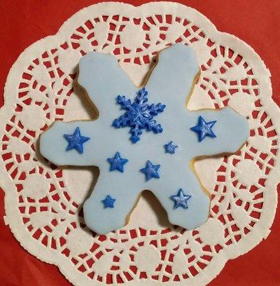 12 fiocchi di neve per cupcake