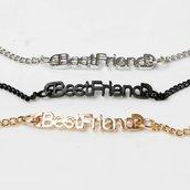 Best Friend bracciale amicizia argentato