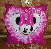 Cuscino con minnie fuchsia