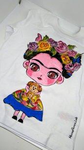 T-shirt dipinta a mano - Rebel Girl