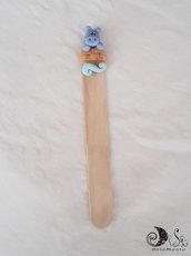 Bomboniera battesimo o compleanno bimba e bimbo segnalibro in legno animaletti giungla arca personalizzabili
