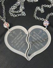 collana doppio cuore 'Amicizia'