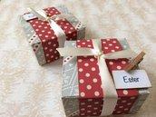 Scatolina porta confetti invernale quadrata