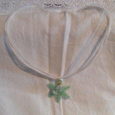 Collana fiocco di neve verde