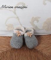 Scarpine di lana per neonato