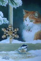 Spilla natalizia a fiocco di neve in compensato