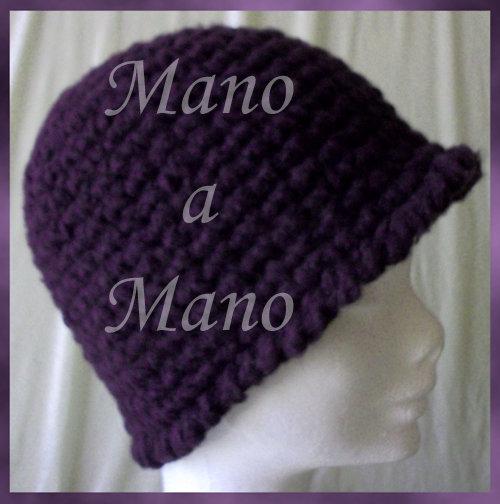 Cappello a cloche - Viola melanzana