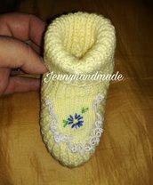Scarpette neonata lana
