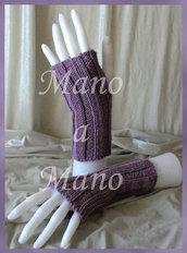 Scaldamani cotone&lana merino - Rosa antico