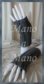 Scaldamani cotone&lana merino - Grigio scuro