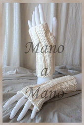 Scaldamani cotone&lana merino - Bianco panna