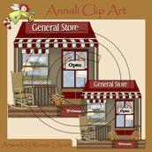 Negozio - General Store - Clip Art per Scrapbooking, Decoupage, Web e Banner - Immagini
