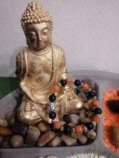 *bracciale Buddha pietra onice/agata