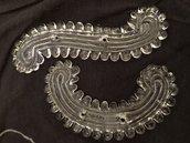 Foglie, ricambii per specchi Veneziani e non , in vetro soffiato di Murano , con 2 fori per l'aggancio