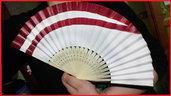 """Ventaglio di carta rinforzata e bambù a tema """"Inuyasha- Kagura"""""""