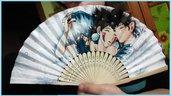 """Ventaglio di carta rinforzata e bambù a tema """"Principessa Mononoke"""" Studio Ghibli"""