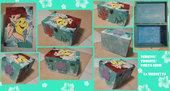 """Scrigno/Porta Gioie/Beauty Case in legno dipinto a mano con acrilici a tema """"Little Mermaid"""""""