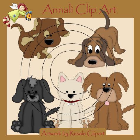 Cuccioli di Cane - Clip Art per Scrapbooking e Decoupage - Immagini