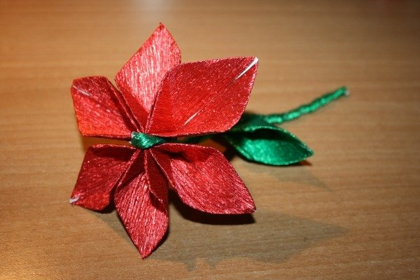 Fiore origami rosso