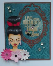 Timbro digitale Ivy doll scrapbooking cards
