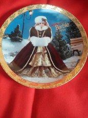 "VINTAGE Piatto in porcellana ""Happy Holiday Barbie 1996"" edizione limitata n. 4297"