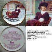 "VINTAGE Piatto ornamentale, Barbie "" Holiday traditions Barbie Allmark"""