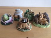 """VINTAGE Collezione porcellane """"Woodland Surprises"""" Franklin Mint"""