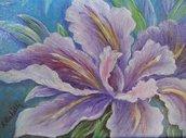Dipinto acrilico con iris