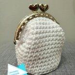 Borsellino clic clac portamonete uncinetto fatto a mano idea regalo bag shopping