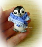 Cake topper pinguino inverno torta animali nascita battesimo comunione compleanno cupcake topper