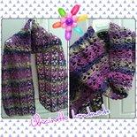 Sciarpa lana uncinetto  fatto a mano  idea regalo shopping