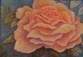 Dipinto acrilico con rosa
