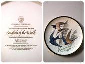 """VINTAGE Collezione 5 piatti di porcellana """" Song birds of the World"""""""
