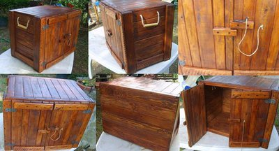 Baule Cassa Armadio in legno Massello