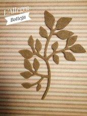 10 Fustellati /Applicazioni Rametti con Foglioline