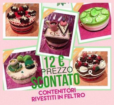 SCATOLA FELTRO - TORTA FRAGOLE AL CIOCCOLATO