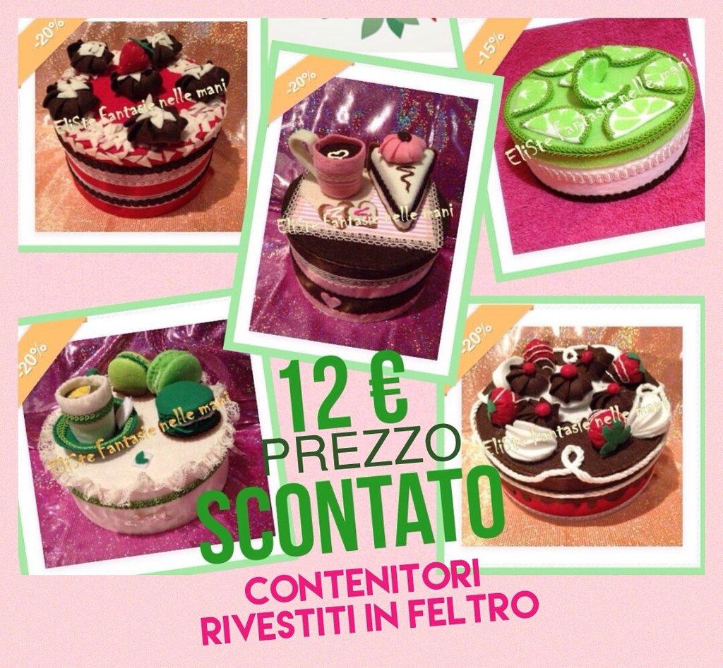 SCATOLA FELTRO - TORTA CHOCOLAT VANILLE