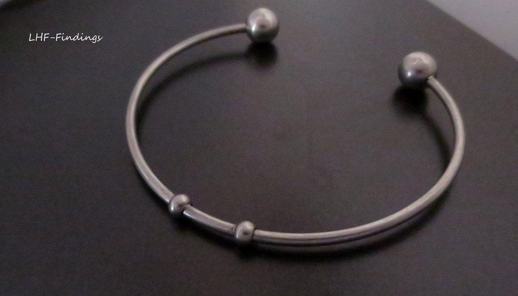 "Bracciale ""Jonc"" in acciaio inox (64x55mm) (cod.inox)"